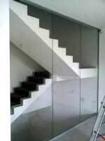 Produkcja szklanych schodów